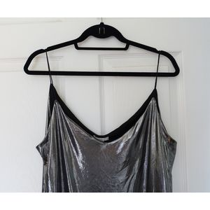 H&M slinky silver top
